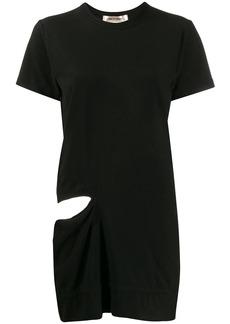 Comme des Garçons long-line cut out T-shirt