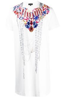 Comme des Garçons long-line jewel print T-shirt