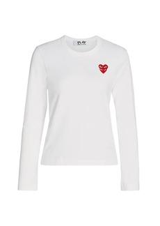 Comme des Garçons Long-Sleeve Double Heart T-Shirt
