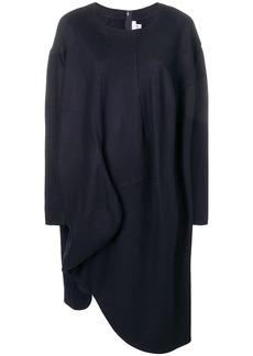 Comme des Garçons long-sleeve flared sweater dress