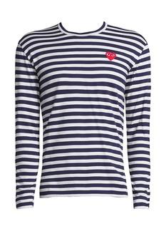 Comme des Garçons Long-Sleeve Striped T-Shirt