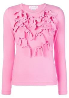 Comme des Garçons longsleeved bow embellished T-shirt