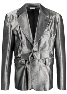 Comme des Garçons metallic deconstructed blazer
