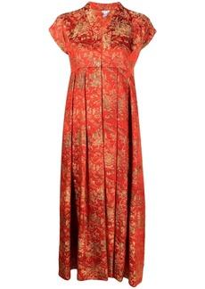 Comme des Garçons metallic jacquard dress