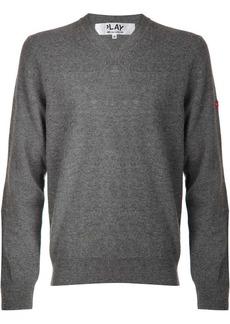 Comme des Garçons mini heart v-neck sweater