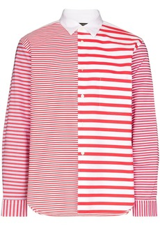 Comme des Garçons mixed stripe shirt