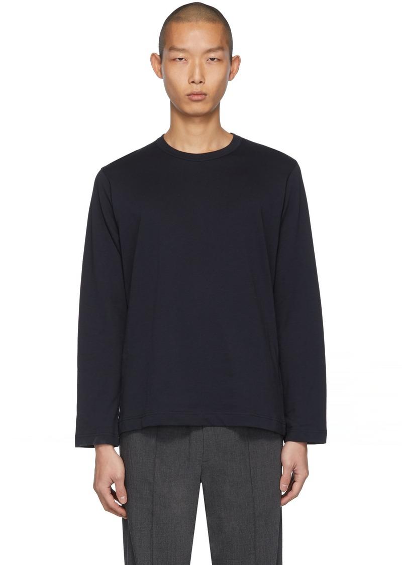 Comme des Garçons Navy Fine Jersey Plain Long Sleeve T-Shirt