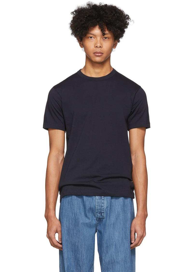 Comme des Garçons Navy Plain T-Shirt