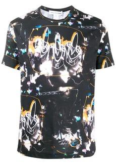 Comme des Garçons neon light print t-shirt