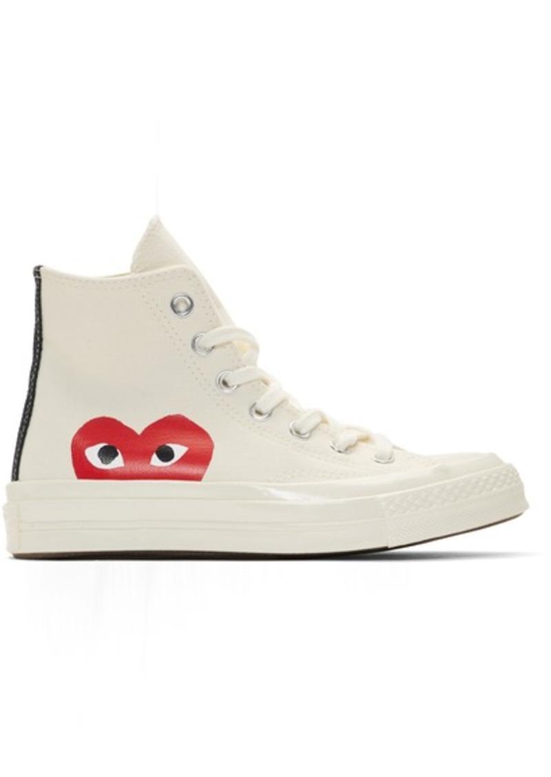 Comme des Garçons Off-White Converse Edition Half Heart Chuck 70 High Sneakers