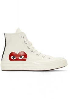 Comme des Garçons Off-White Converse Edition Half Heart Chuck Taylor All-Star '70 High-Top Sneakers