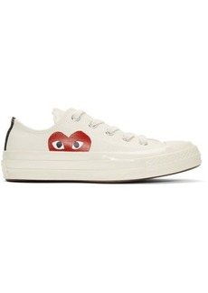 Comme des Garçons Off-White Converse Edition Half Heart Chuck Taylor All-Star '70 Sneakers