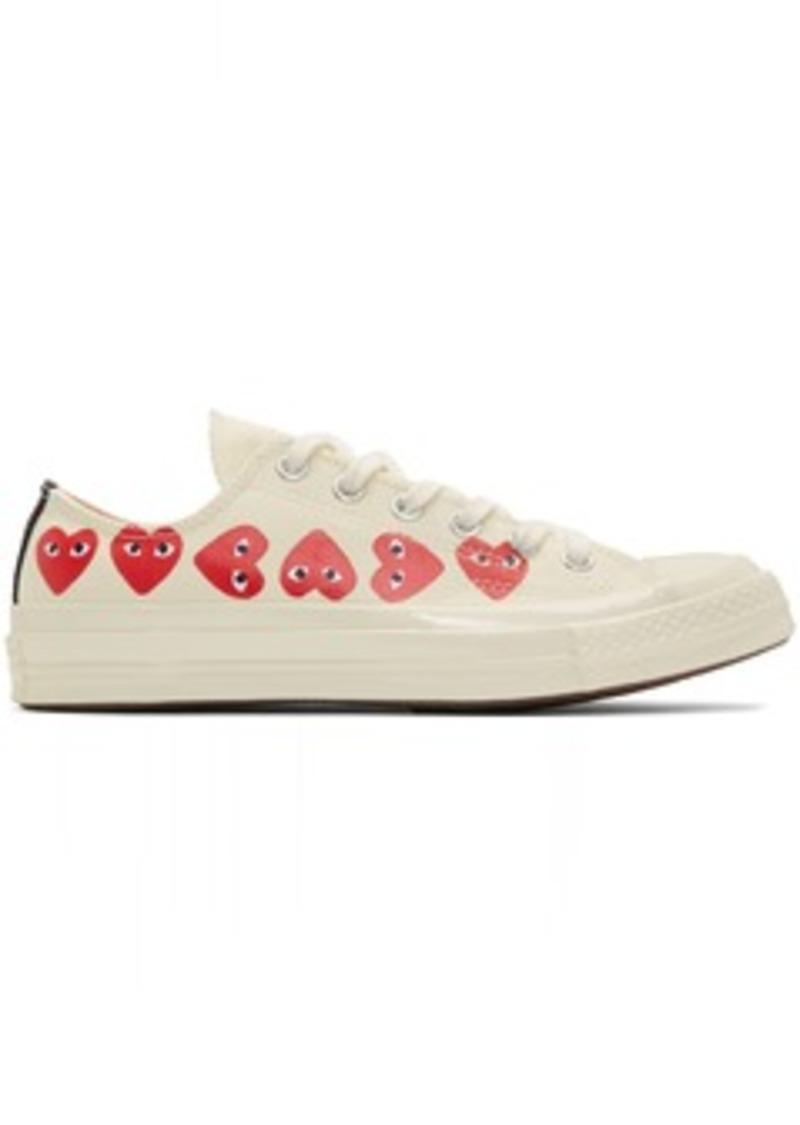 Comme des Garçons Off-White Converse Edition Multiple Hearts Chuck 70 Low Sneakers