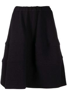 Comme des Garçons oversize tiered wool skirt