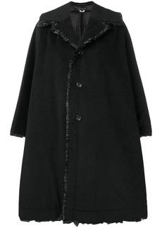 Comme des Garçons oversized frill trim coat