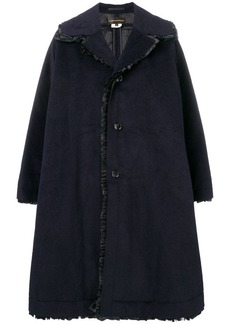 Comme des Garçons oversized ruffle trim coat