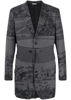 Comme des Garçons painting-print split blazer
