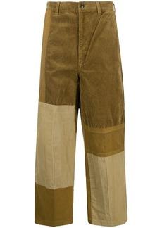 Comme des Garçons panelled corduroy straight-leg trousers