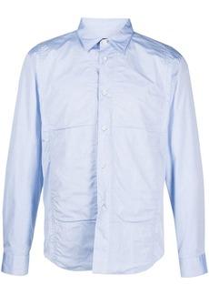 Comme des Garçons panelled cotton long-sleeved shirt