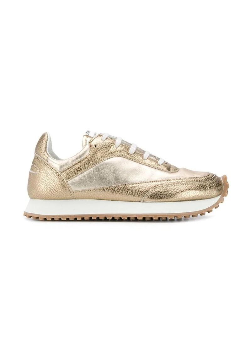 Comme des Garçons panelled lace-up sneakers