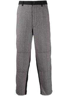 Comme des Garçons panelled plaid suit trousers