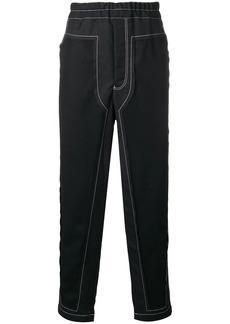 Comme des Garçons panelled straight-leg trousers