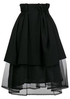 Comme des Garçons paperbag waist tulle layer skirt