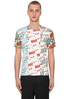 Comme des Garçons Patchwork Print Cotton Jersey T-shirt