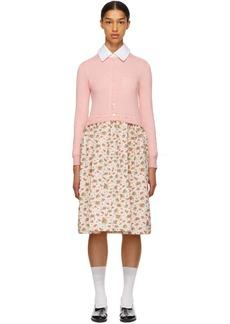 Comme des Garçons Pink Combo Floral Dress
