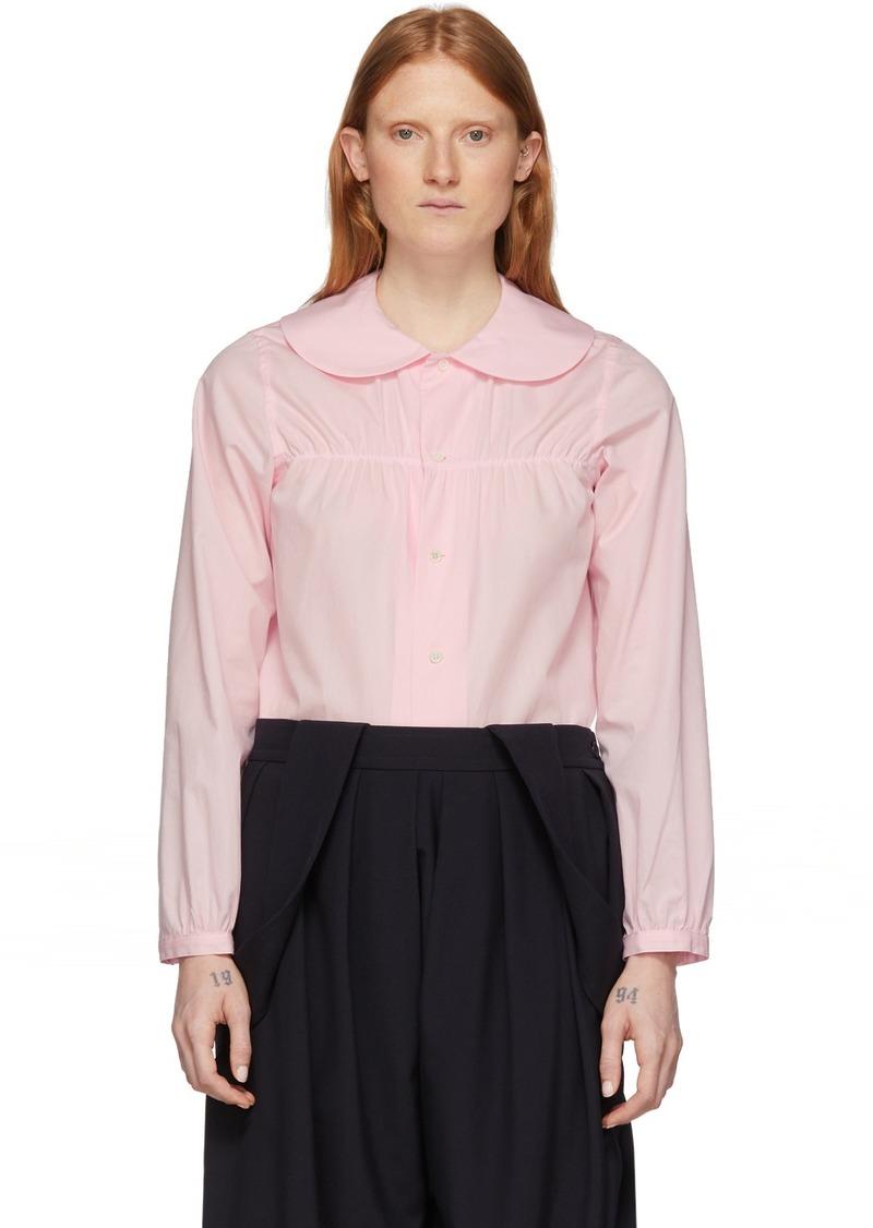 Comme des Garçons Pink Peter Pan Collar Blouse