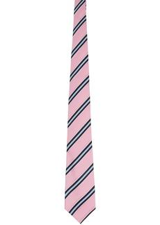 Comme des Garçons Pink Silk Striped Tie