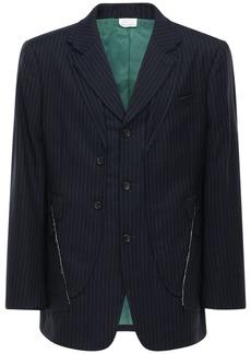 Comme des Garçons Pinstripe Wool & Mohair Jacket