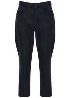 Comme des Garçons Pinstripe Wool & Mohair Pants