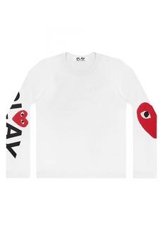 Comme des Garçons Play Logo Long-Sleeve T-Shirt