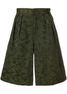 Comme des Garçons pleated camouflage shorts