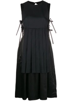Comme des Garçons pleated layer tie-side dress