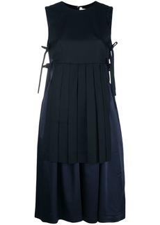 Comme des Garçons pleated layer tie-side dress