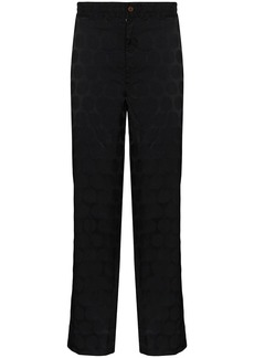 Comme des Garçons polka-dot cropped trousers