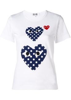 Comme des Garçons polka dot heart T-shirt
