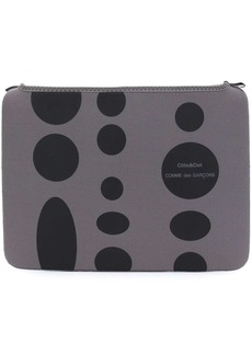 Comme des Garçons polka dot laptop pouch