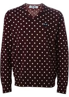 Comme des Garçons polka dot V-neck sweater