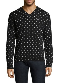 Comme des Garçons Polka Dot Wool Sweater