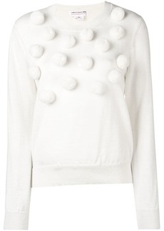 Comme des Garçons pom pom knitted jumper