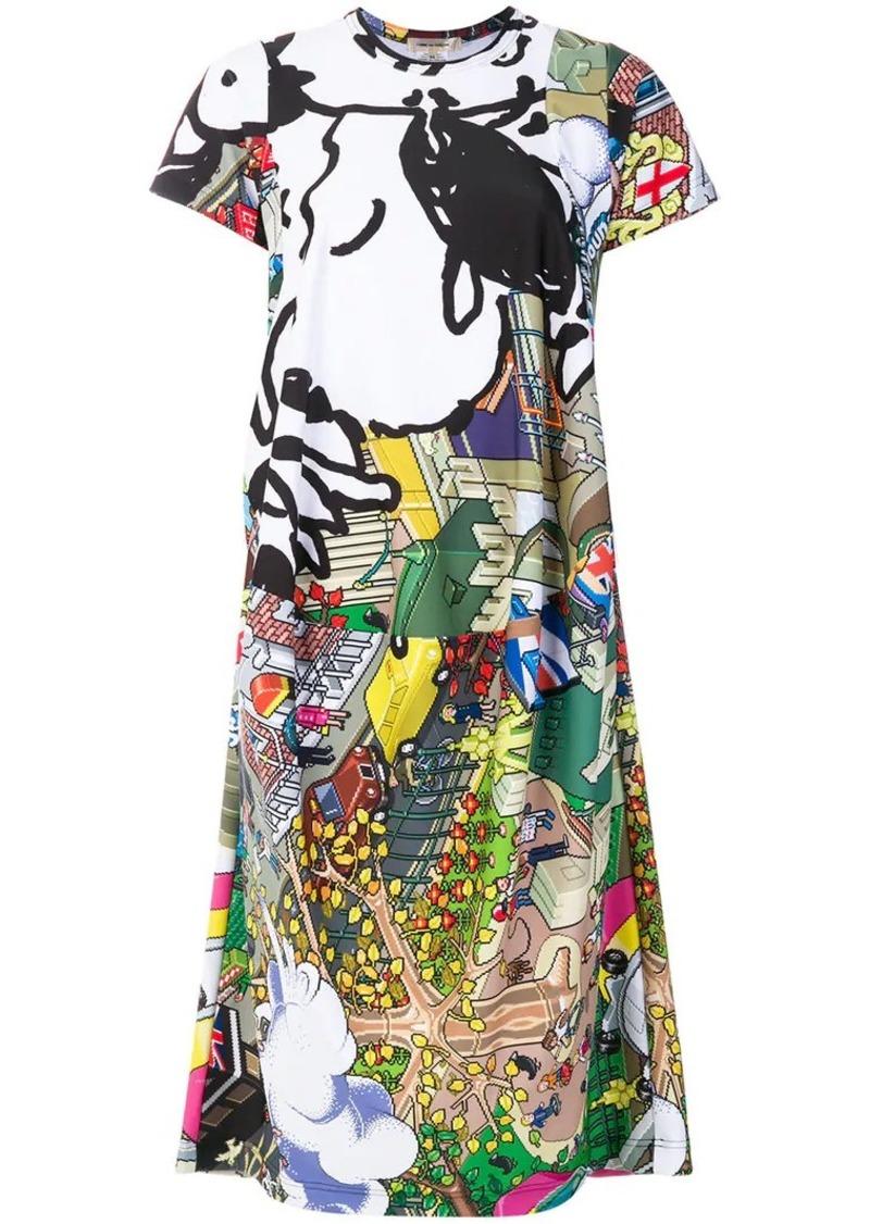 Comme des Garçons printed cartoon T-shirt dress