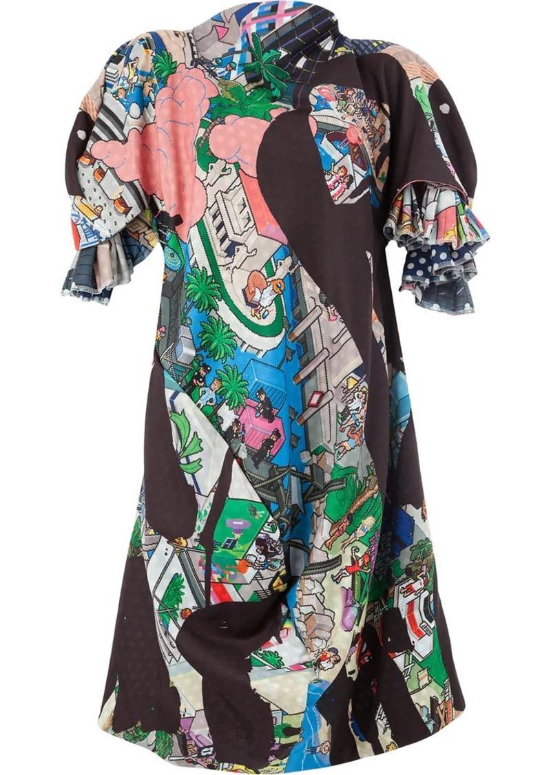 Comme des Garçons printed oversized dress