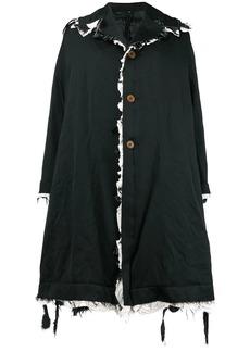 Comme des Garçons raw edge oversized coat