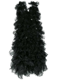 Comme des Garçons raw edge tulle layered dress
