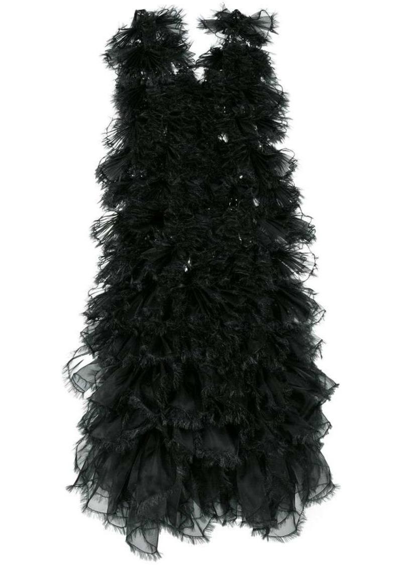 Comme des Garçons raw edge tulle layered dress