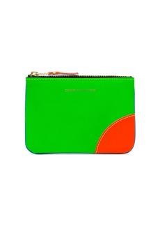 Comme des Garçons red green and blue fluorescent wallet