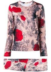 Comme des Garçons rose print two-piece set